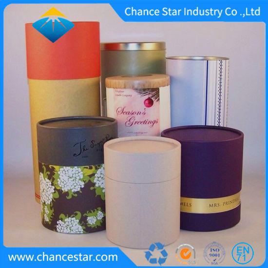 Custom Printed Paper Cardboard Tube Box for Food Packaging
