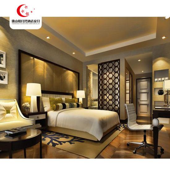 [Hot Item] China 2019 New Model Hotel Room Bed Room Furniture Bedroom Set  Mingyuewan