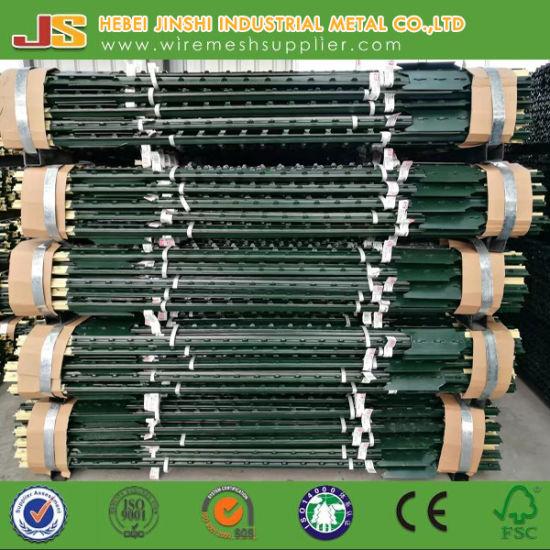 China 6FT Bitumen Coated Frame Finishing Studded With Spade T Post