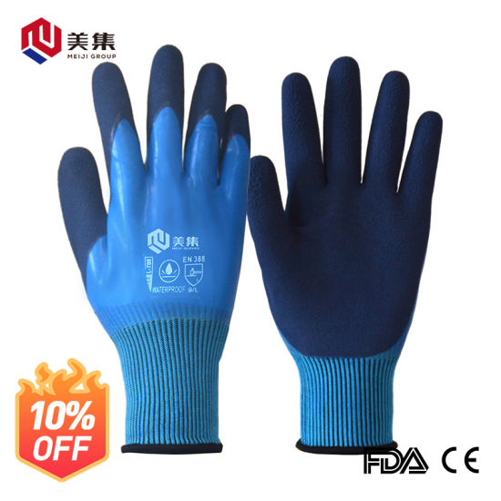 Wholesale Sale Cheap China's 13G Waterproof Safety Work Glove Latex Foam