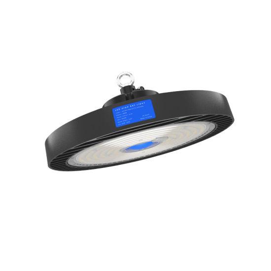 Zgsm 100W to 200W IP65 Ik10 190lm/W Motion Sensor UFO LED High Bay Light for Warehouse