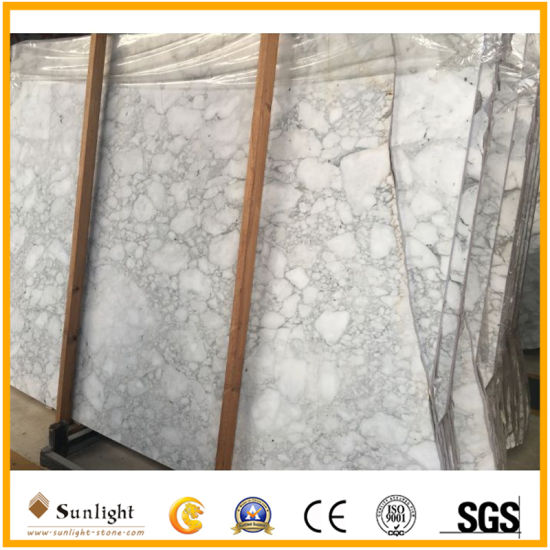 China Bianco Carrara Arabescato White Marble for Wall Table Countertop Floor Bathroom Kitchen Vanity Tile