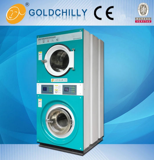 Double Stack Washing Machine and Dryer Machine for Clothes Laundry pictures & photos