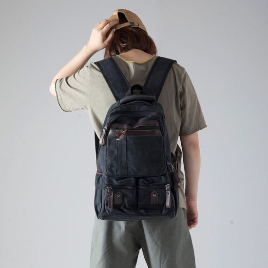 Wholesale Fashion Popular Leisure Business Laptop Day Backpack Canvas School Pack Bags Hiking Leisure Backpack Sports Backpack
