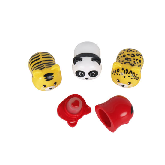 OEM Cute Animals Shape Pop Ball Moisturizing Lipbalm Organic Lipgloss Cosmetic pictures & photos