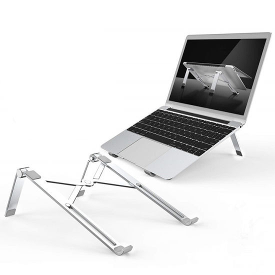 Adjustable Aluminum Laptop Stand Multi-Angle Foldable Desktop Laptop Stand for 10 to 17 Inch Laptop