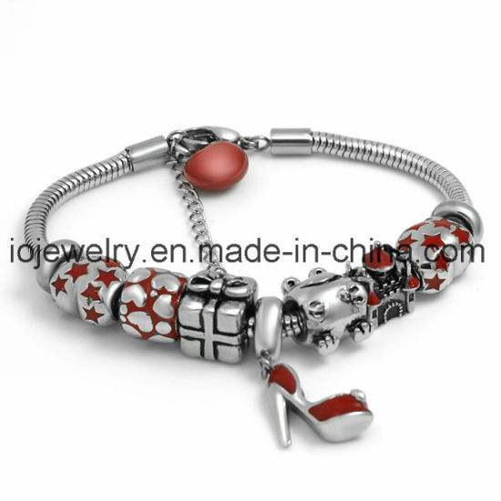 Fashion Jewelry Enamel Red Gift Bracelet with Lobster