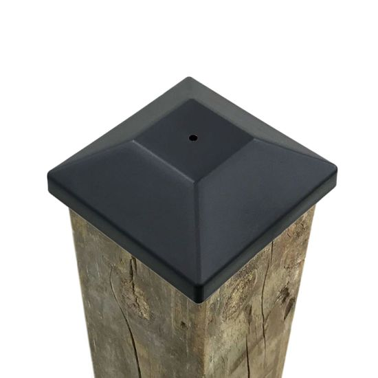 Fence Post Black Caps 4X4 for Pressure Treated Wood pictures & photos