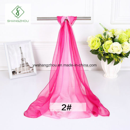 2018 Korean Gradient Color Chiffon Shawl Fashion Lady Scarf Factory