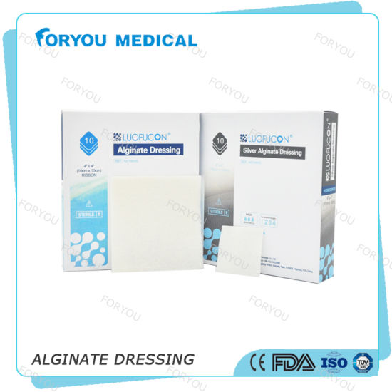 Foryou Medical Burns Treatment Absorbent Pad Calcium Alginate Dressing Aquacel Alginate Dressing Wound Care Steril with Ce pictures & photos