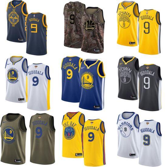 size 40 85c4c f7b68 Wholesale 2019 Golden State Warriors 9 Andre Iguodala Basketball Jerseys