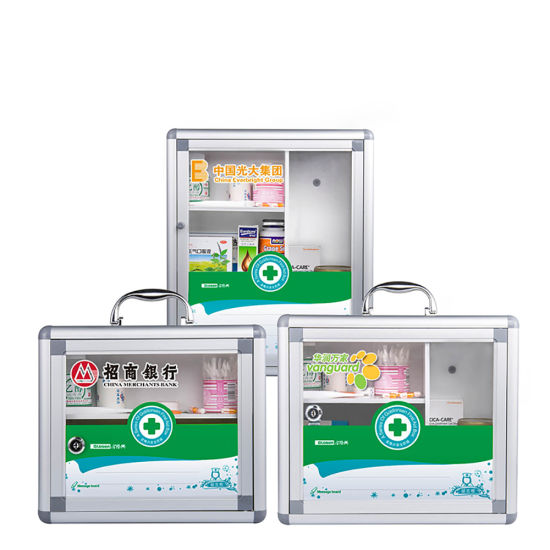 China Metal Medicine Cabinet For First Aid Storage With Glass Door
