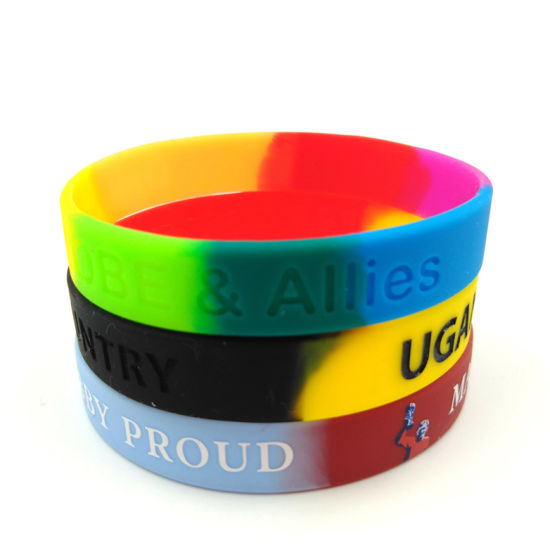 Swirled Silicone Wristbands pictures & photos