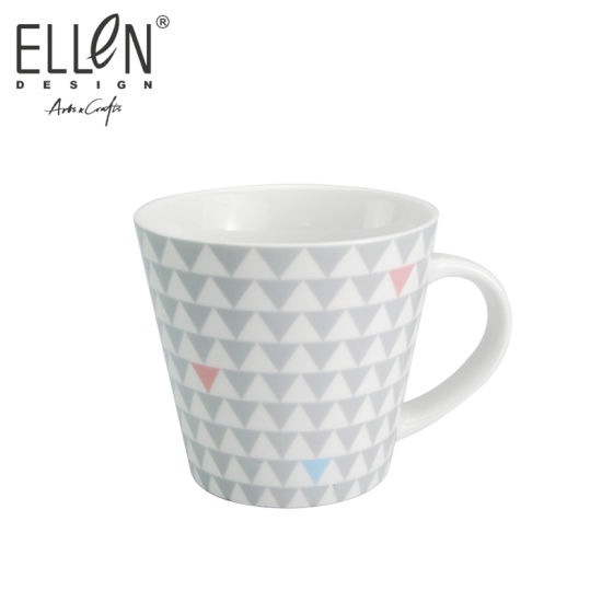 Promotional Gift Geometry Design Ceramic Coffee Mug