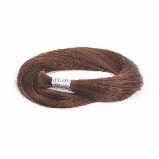 Wholesale Bulk Hair Extensions 100% Silky Straight Unprocessed Virgin Indian Hair Bulk pictures & photos