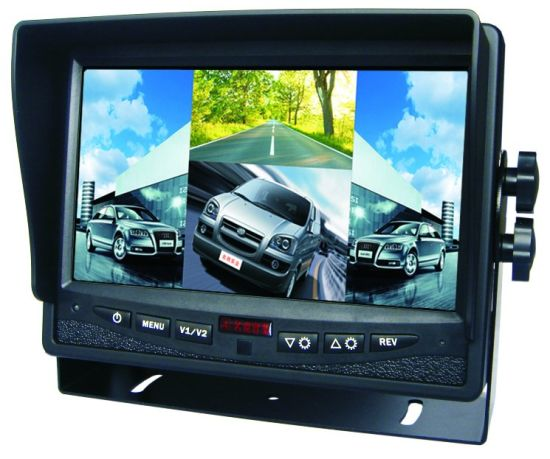 7-Inch Car Security System with Quad Monitor & Optional Night Vision Reverse Camera pictures & photos