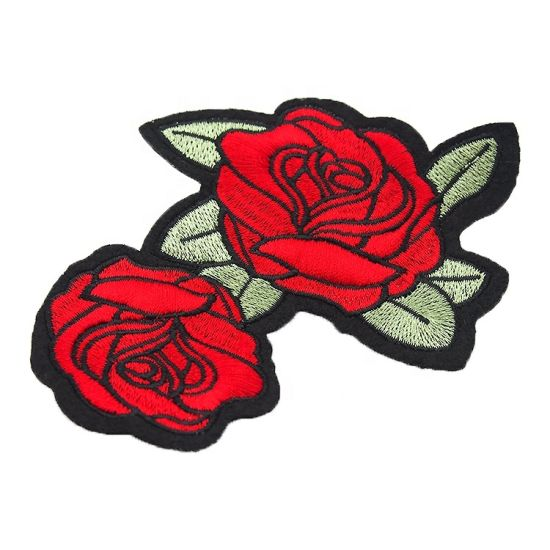Pretty Flower Bud Embroidery Patches