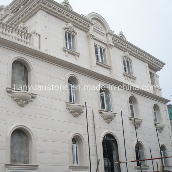 Decoration Material Natural Stones Panel White Sandstone Wall Facade