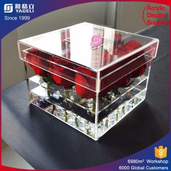 China Acrylic Box For Preserved Flowers Acrylic Vases Wholesale