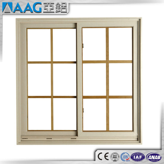 Aluminum Aluminium Sliding Doors And Windows With Lattice