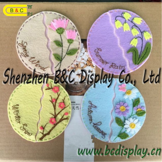 Flowers Shaper Creative Paper Coaster, Bar Coaster, Restaranut Place Mats, Caff Coaster with SGS (B&C-G113) pictures & photos