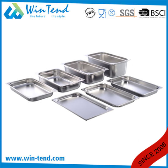 Hot Sale Stainless Steel Electrolytic Restaurant Kitchen 1/2 Size Gn Pan pictures & photos