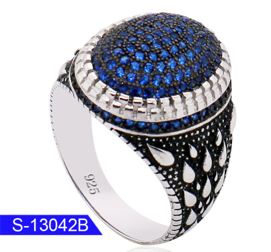 9f8692568aa6 Wholesale Custom Unique Muslim Jewelry 925 Sterling Silver Micro Stone Mens  Rings