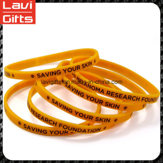 Attractive Design Silicone Rubber Bracelet with Promotion pictures & photos