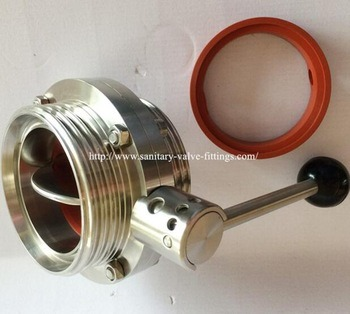 Dn80 Food Grade Sanitary Ss316L Male Butterfly Valve pictures & photos