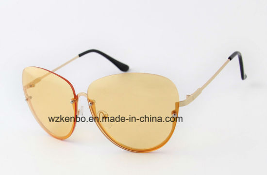 Bottom Half Metal Frame Fashion Sunglasses Km17001 pictures & photos