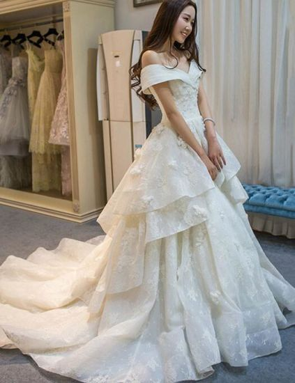 Chinese Design 2017 New Style Luxury Wedding Ball Gown Dress - China ...