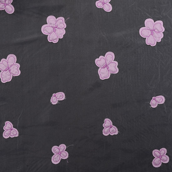 China Supplier of Embroidered Organza Lace Fabric