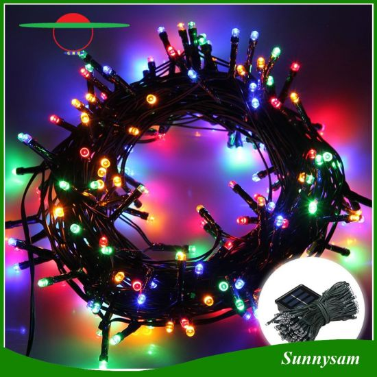 Christmas Decoration Lighting Color Changing 200 Led Solar String Light With Underground Stickers