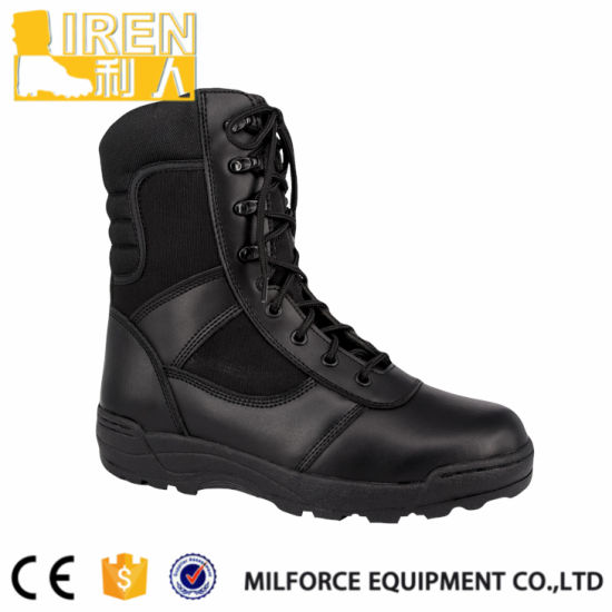 Cow Leather Men Police Tactical Boots pictures & photos