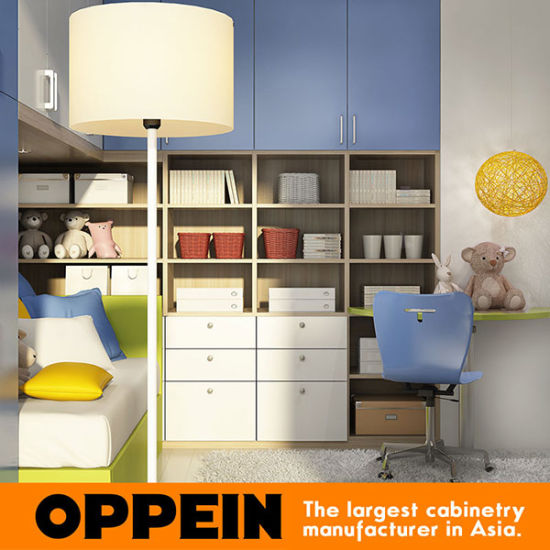 Oppein Colorful Children′s Bedroom Furniture Kids Wooden Furniture (OP16-KID03) pictures & photos