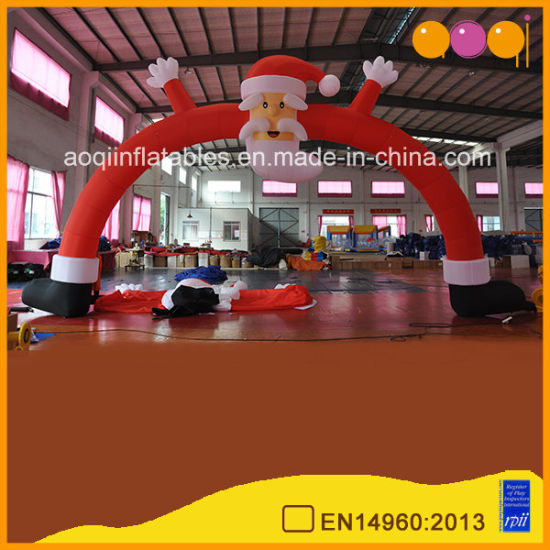Christmas Holiday Advertising Inflatable Santa Claus Inflatable Arch (AQ57128)