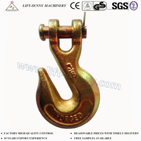 """3/8"""" A330 Forged Alloy Steel G70 Clevis Grab Hook"""