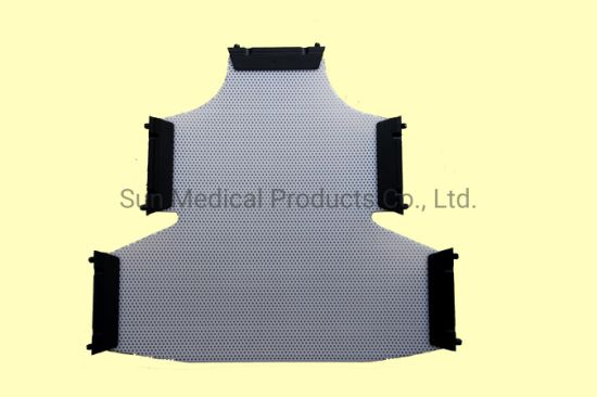 Civco or Medtec Type 5-Point Head-Neck-Shoulder Mask with Push Pin - Thermoplastic Mask