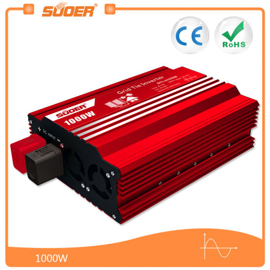 Suoer 1000W 24V Grid Tie Solar Power Inverter (GTI-D1000B) pictures & photos