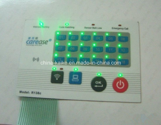 OEM LED Membrane Switch Keyboard with LEDs Embeded