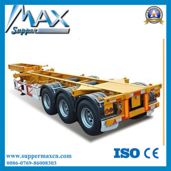 China Chassis Trailer Frame for Container Transport Skeleton - China ...