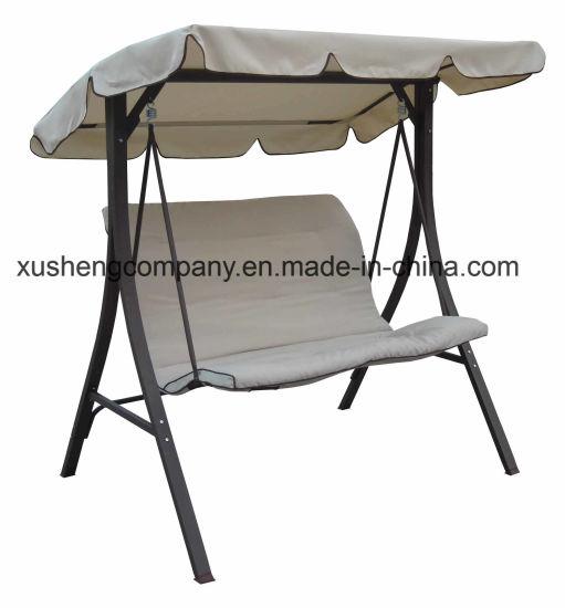 China Straight Leg Metal Frame Garden Swing Chair - China Garden ...