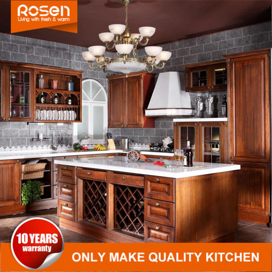 European Style Cherry Wood Wholesale Kitchen Cabinet Furniture