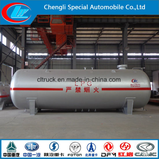 China LPG Storage Tank 100cbm with Safety Valve Gas Tanker