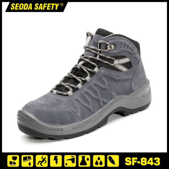 Suede Leather PU Safety Boot with New Design Sole pictures & photos
