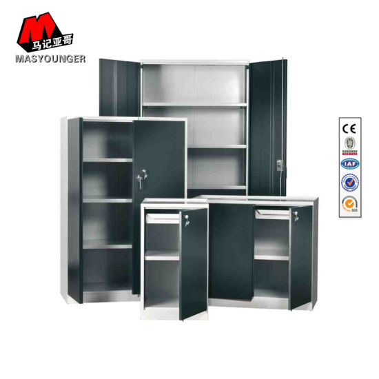 Easy Assemble Kd Metal Office Storage Furniture with Name Card Swing Door Filing Cabinet