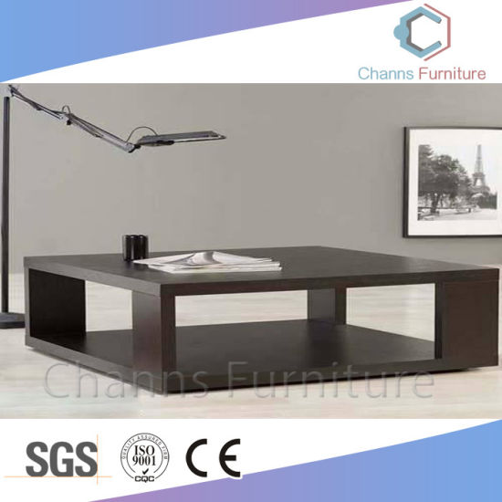 China Simple Furniture Black Office Furniture Tea Desk Coffee Table - Table for office use