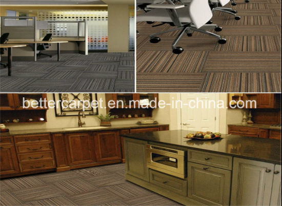 Special Custom Design Soft Nylon Fireproof Office Carpet Tile pictures & photos