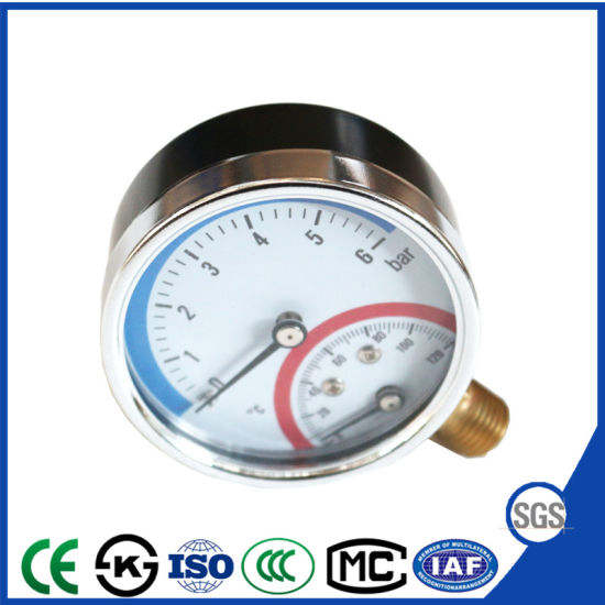 Multifunctional Pressure Thermometer and Pressure Gauge with Ce