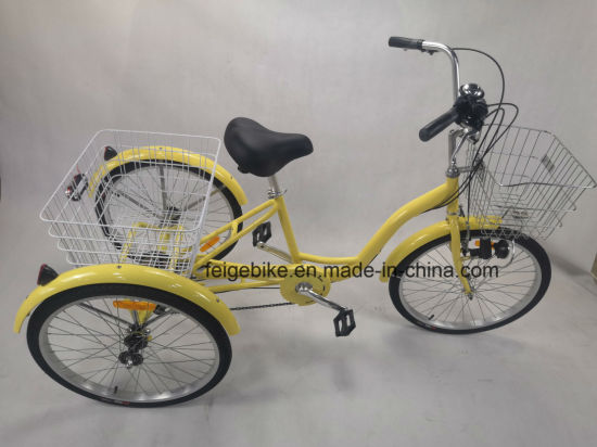"High Quality 20""/24""/26"" Tricycle / Three Wheel Bicycle (FP-TRBK1803) pictures & photos"